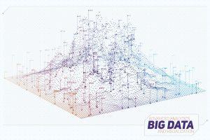 vector abstract big data visualization-futuristic-infographics aesthetic design visual